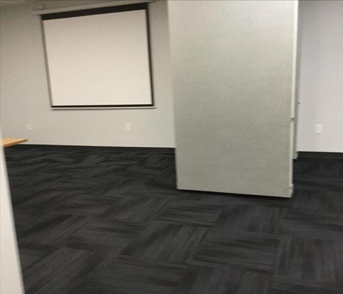 restored meeting room after water damage
