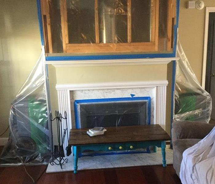 Fire Damaged Fireplace