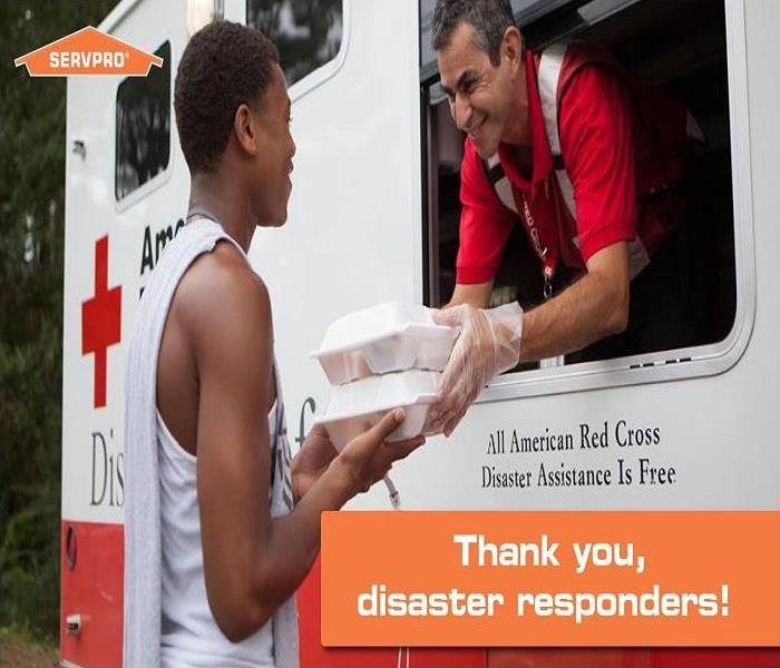 American Red Cross providing assistance after a disaster